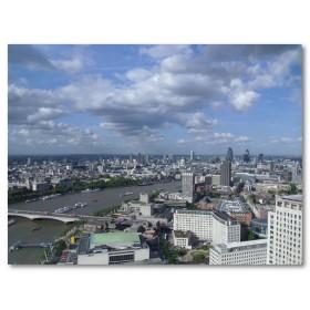 Αφίσα (Λονδίνο, κτίρια, σύννεφα, ουρανός, πανοραμικός)